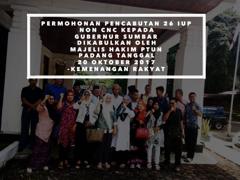 Upaya Kita Menang Gugatan Lbh Padang Terhadap 26 Izin