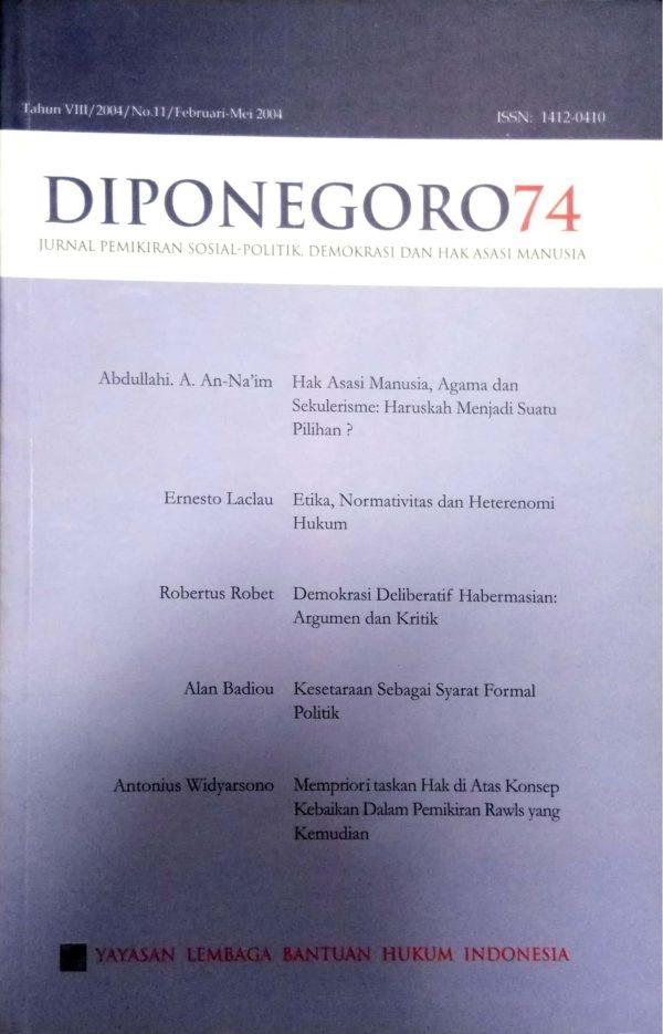 Diponegoro 74 Tahun VIII/2004/No. 11/Februari-Mei 2004