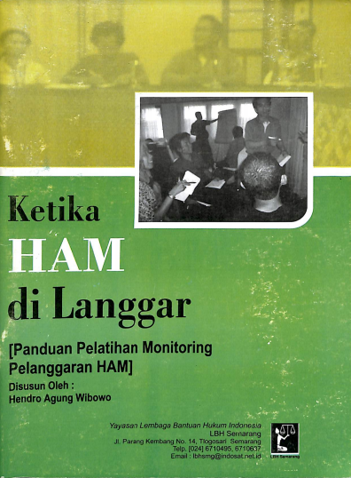 Pedoman Pelatihan Monitoring Pelanggaran HAM
