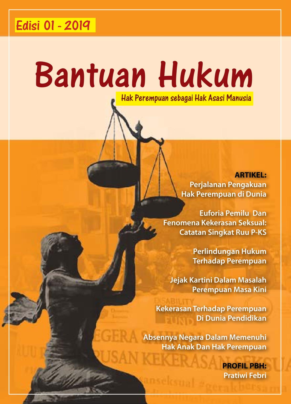 Buletin Bantuan Hukum edisi 1 - 2019