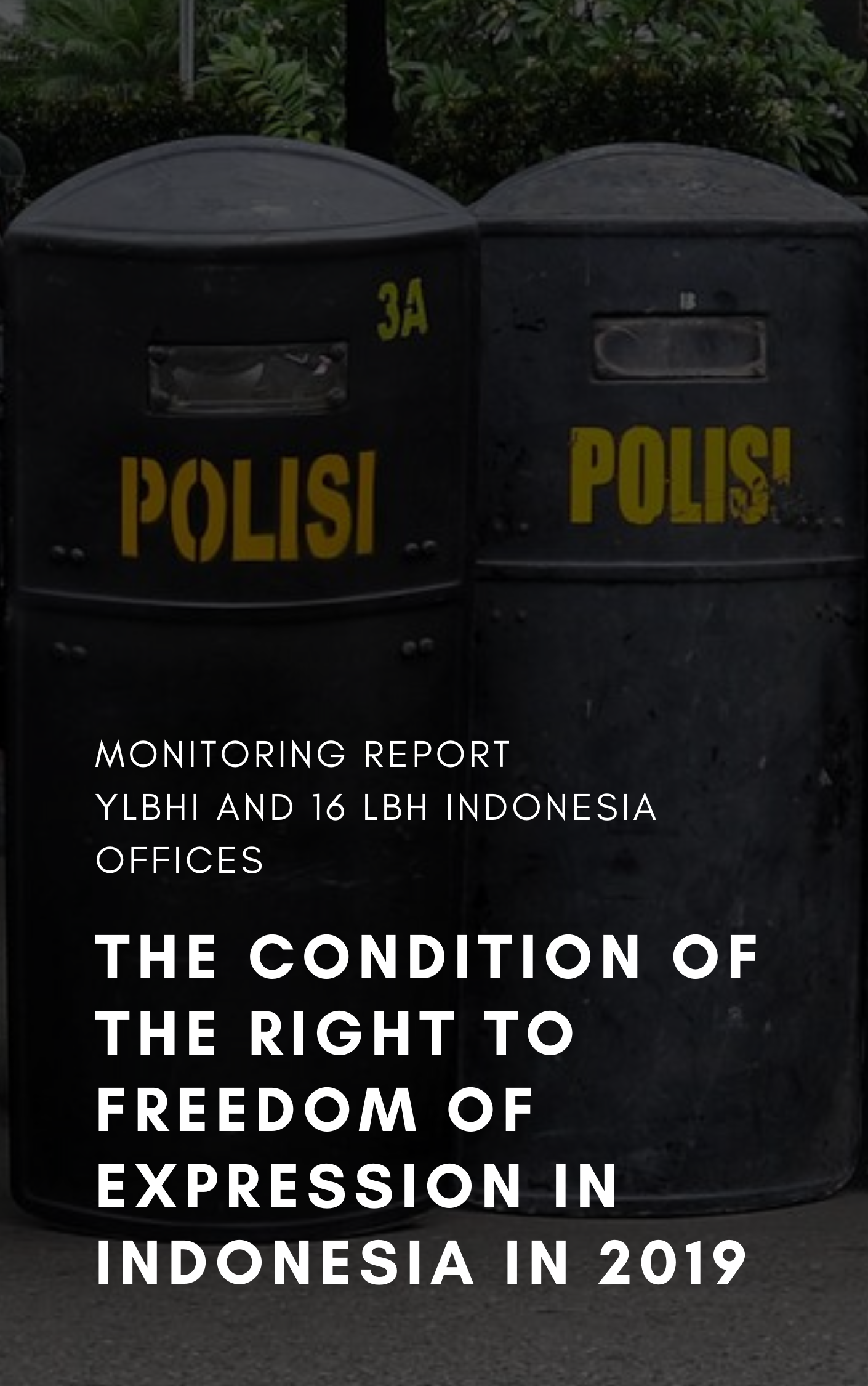 Monitoring Report On The Condition of The Right to Freedom of Expression in Indonesia 2019